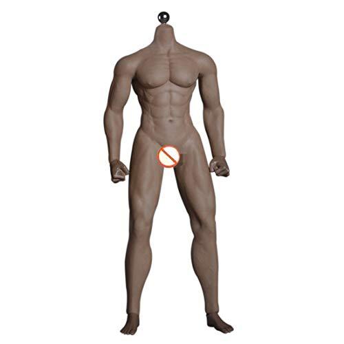 H0_V 1/6 Action Figure Modell - 12 Zoll männliches Nahtloser Körper mit Metallskelett(ohne Kopfformung) - Dunkle Hautfarbe