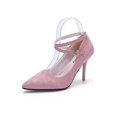 WSX&PLM Da donna-Tacchi-Casual-Comoda-A stiletto-PU (Poliuretano)-Nero / Rosa / Rosso black