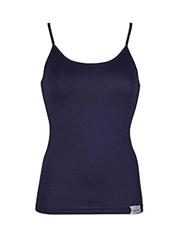 RJ Traditional Bodywear 32-018 Women's The Good Life Dark Blue Lyocell Cotton Spaghetti Vest Top Medium