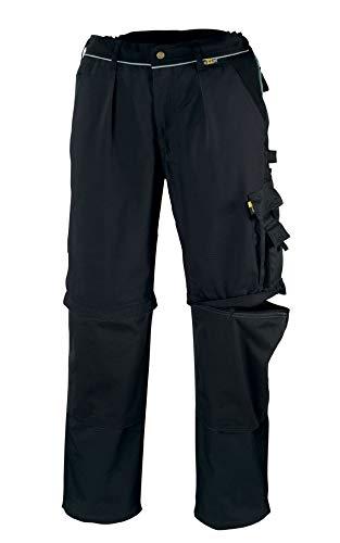 teXXor, Pantaloni con tasconi laterali 2-in-1, in tela 320 e cordura, colore: Nero, taglia 52, 20-008358-52