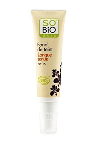 So'Bio Étic Fond de Teint Longue Durée 02 Rose Discret 30 ml Lot de 2