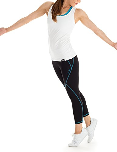 winshape Pantalon de survêtement 7/8/Legging Collant wtl3Fitness Workout Loisirs Sport Noir - Noir/turquoise