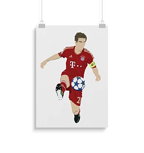 Philipp Lahm inspirierte Poster - Zitat - Alternative Sport/Fußball Prints in verschiedenen Größen (Rahmen nicht im Lieferumfang enthalten) -