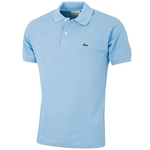 Lacoste L1212 Herren Polo Shirt Kurzarm,Männer Polo-Hemd,2 Knopf,Regular Fit,Creek(G5J),Medium (4) - Rot Gestreiftes Polo Kleid