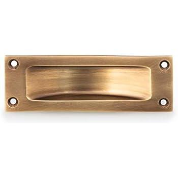 Griffmulde Messing glänzend Griffmuschel für Schiebetür klassischer Türbeschlag
