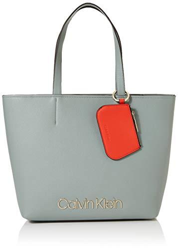 Calvin Klein Damen Ck Must Med Shopper Tote, Grau (Fern), 11x27x39 cm
