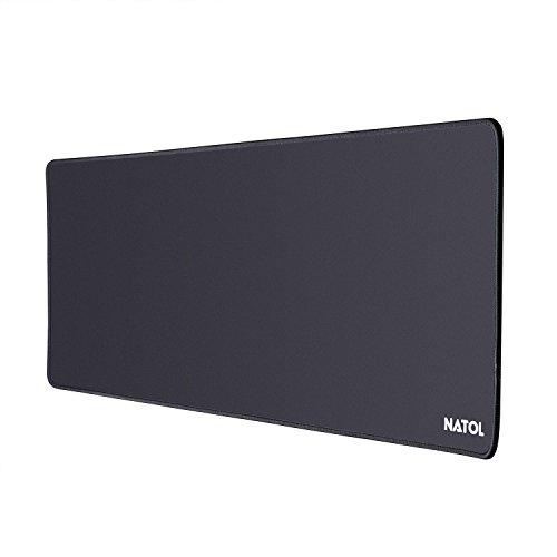 Natol gaming mouse pad, 800 x 300 mm grande tappetino mouse, con superficie liscia, antiscivolo, resistente all'acqua e con base in gomma
