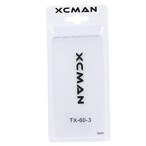 XCMAN Alpine Snowboard Ski Wax Scraper 3mm 4mm Thick Ski Tuning Tools with PVC Storage Bag (3mm)
