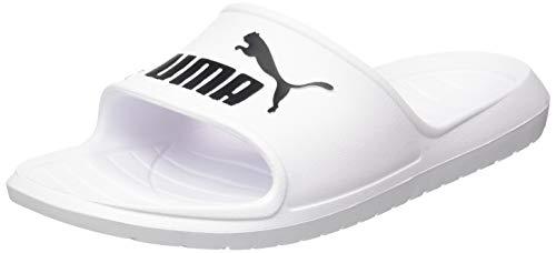PUMA Divecat V2, Zapatos de Playa y Piscina Unisex Adulto, Blanco White Black 02, 43 EU