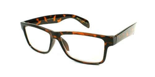 EDGEIWEAR Edge-I-Wear Retro Rechteckige Lesebrille für Kunststoff Leser 540593- + 2,75-3 1 2.75 Schildkröte (75 Leser)