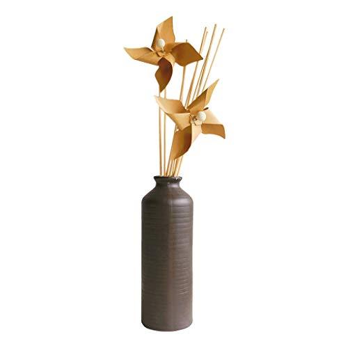 B Blesiya Aromatherapie-Duft-Diffusor mit Rattan-Kugel und Blumen-Dekoration, langlebig, für Zuhause, Badezimmer, Schlafzimmer (Duftöl Nicht enthalten)