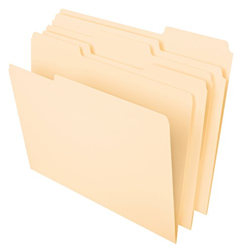 Pendaflex Datei Ordner, 1/3Tab, Manila, Letter-Format, 100Pro Box (65213) (Pendaflex Brief)