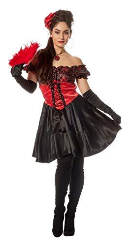 narrenkiste L3200750-44-A schwarz-rot Damen Zorro Kostüm Spanierin - Zorro Kostüm Damen