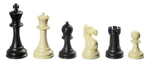 Philos-2012-Schachfiguren-Nerva-Knigshhe-95-mm-Kunststoff-gewichtet-schwcreme-im-Polybeutel
