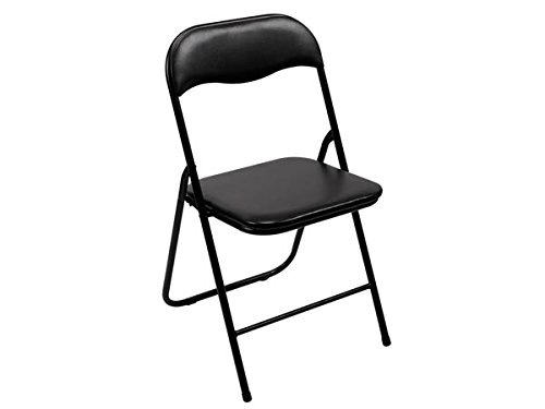 ToollandFP168B Tolland Chaise pliante, noir, Dimensions 38cm x 43cm x 78cm