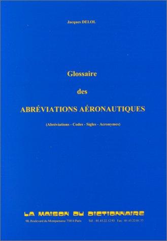 Glossaire des abréviations aéronautiques par Delol