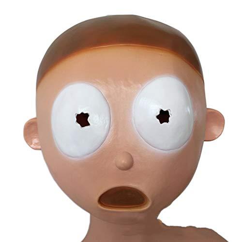 nihiug Rick Und Morty Halloween Party Maske Lustige Kopfbedeckungen Cos,Moti-OneSize