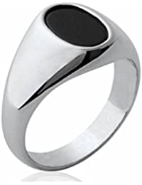 Isady - Marlon - Men's Ring Ladies Ring - 925er Sterling Silber - Imit. Onyx Black