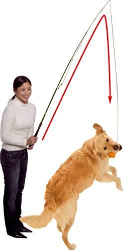 Karlie Hundeangel Dog Dangler mit Latexspielzeug (Schwein, Hühnchen oder Wurst) 49-165 cm