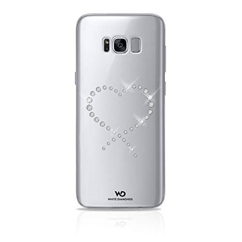 White diamonds swarovski vetro eternity-cover per samsung galaxy s8plus, trasparente