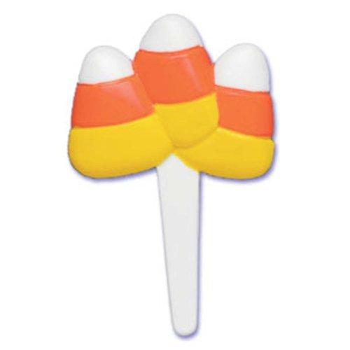 Dress My Cupcake DMC41H-304 Candy Corn Pick Dekorative Kuchendekoration, Halloween, Orange/Gelb von Dress My Cupcake (Halloween Cupcakes, Candy Corn)