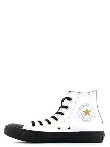Converse - Converse All Stars CT Hi Schuhe Weiss Leder 146632 Bianco/Nero