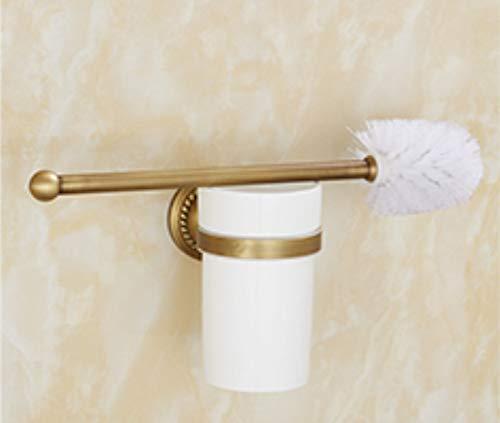 Joeesun Kupfer Geschnitzte Handtuchhalter Handtuchhalter Set europäischen Badezimmer Hardware Anhänger Rack Kupfer Haken Paket Twist Vintage Handtuchring, Twist Retro Toilettenbürste