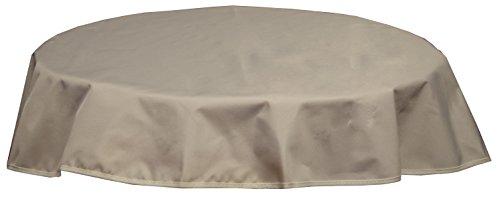 beo Outdoor-Tischdecken wasserabweisende, rund, Durchmesser 120 cm, beige