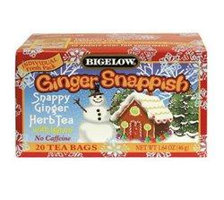 Bigelow Tea - Herb Tea Ginger Snappish with Lemon - 20 Tea Bags