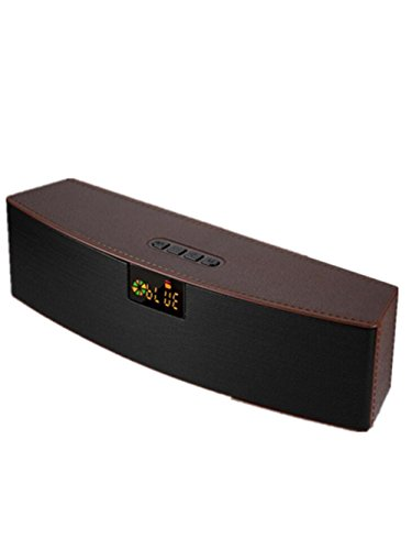 Bluetooth-Lautsprecher Wireless Subwoofer Outdoor LED Lautsprecher Karte Computer Lautsprecher 5w + 5w Lautsprecher 2000 MAh Akku Perfect Sound, Coffee