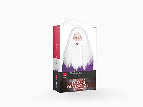 Imagen de smiffy's  disfraz de barba mago para hombre, talla única 42205  alternativa