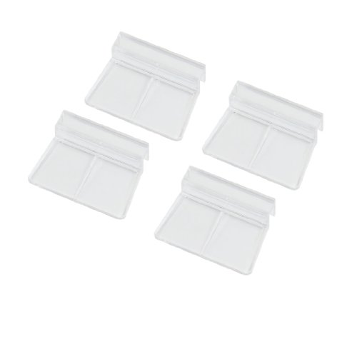 Sourcingmap Aquarium Fish Tank Glass Cover Clip Support Holder, 6 mm, Pack of 4 Test
