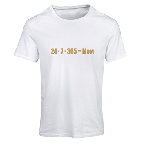 Maglietta Donna Migliore mamma - ti amo messaggio mamma - compleanno, giorno Madri, regali di anniversario Bianco Oro