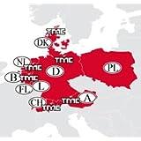 Becker Traffic Pro Karten-Software CD-ROM für Navigationsgerät (version 10.0, für Zentral Europa)