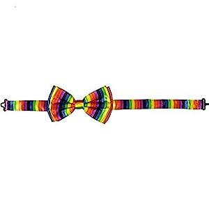 Dress up America Rainbow Bow Tie Adecuado para Hombres Traje y Esmoquin (Talla única), Multicolor (Dressup America TY-OP-045)