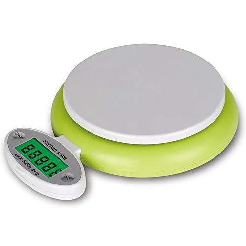 ZHANGYUGE Praktische 5kg/1g Waage LCD-Display Digitale Waage Ernährung Post Gewichtung Werkzeuge mit 2 Container (1g-container)