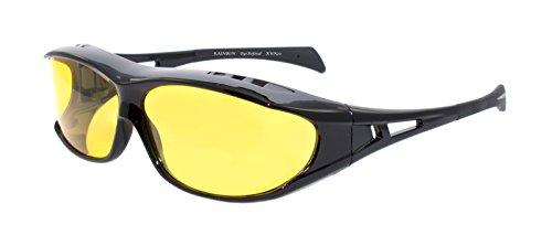 rainbow safety Überbrille Sonnenbrille Herren für Brillenträger Schutzbrille für Sport Radfahren Skifahren Angeln Auto Nachtsichtbrille Polarisierte Gläser RWN20 (Nachtfahrbrille)
