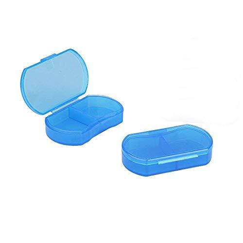 Pillendose Organizer Tasche Kleine Pillenhalter, täglich AM & PM Behälter, Medikamentenhalter, ideal für Medikamente, Vitamin, Nahrungsergänzung, perfekt für Reisen, ideal für Geldbörse -