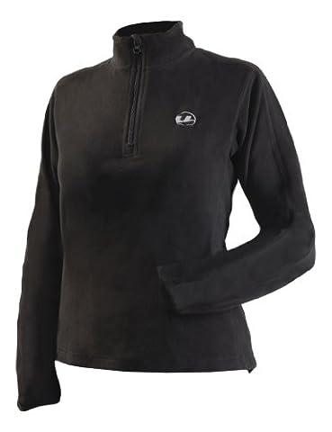 Ultrasport Damen Micro-Fleece Shirt, schwarz, M, 51205