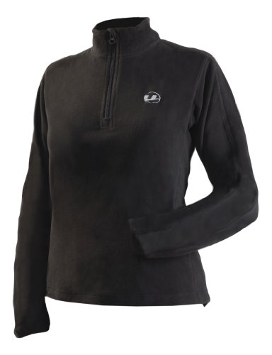 Ultrasport Damen Micro-Fleece Shirt, schwarz, M, 51205 (Funnel Mantel Neck Schwarz)