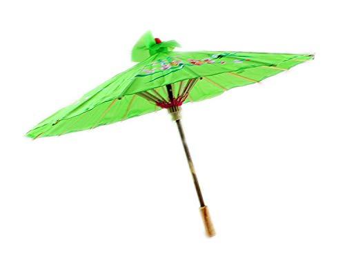 Chinesisch / Japanisch Blumenmuster Sonnenschirm Geisha Schirm - 80cm durchmesser - Grün, 80cm