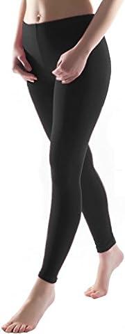 Bunte Mädchen Leggings lang aus Baumwolle Kinder Leggins in verschiedenen Farben und Muster, Farbe: Schwarz, Größe: