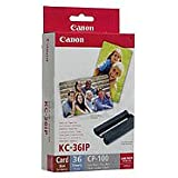 Canon 7739A001 KC-36IP photo paper inkjet 54x86mm 36 Blatt 10er-Pack with color ink cartridge for CP-100