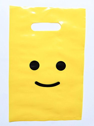 Lifetime Inc Yellow Gunst Taschen Super Strong 24 Pack Beute Geburtstag Emoji Treat Plastiktüte