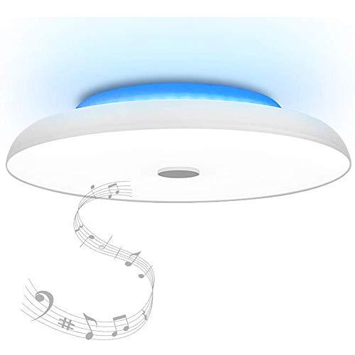 HOREVO 48W Sternenhimmel LED Deckenleuchte mit Bluetooth Lautsprecher Deckenlampe, [ Dual-Lautsprecher ] [APP + Fernbedienung ] [ Ø50cm], Fit für Kinderzimmer Schlafzimmer Kinder Geschenk