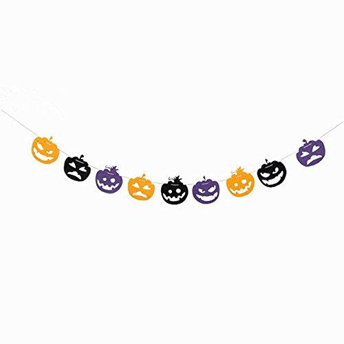 niceEshop(TM) 2 Stück Halloween DIY Handwerk Dekorationen Happy Halloween Hanging Bunting Banner Kürbis Briefe Non-Woven Stoffe Flagge