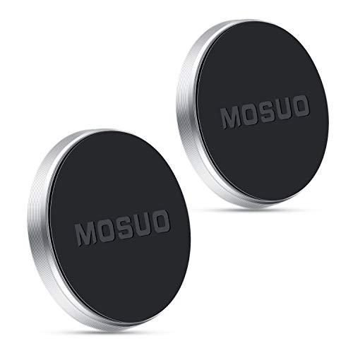 MOSUO 2 Stücke Handyhalterung Auto Magnet, KFZ Magnet handyhalterung mit Klebersticker für Armaturenbrett, Handyhalter fürs Auto Magnet KFZ Halterung Universal für Smartphone, MP3 Player, Silber