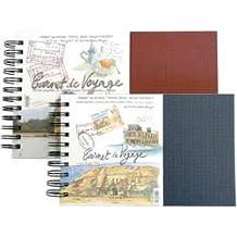 Lana DE un cuaderno DE viaje, DE la acuarela, 25 hojas, 300 G, Spiral 14 x 22 cm