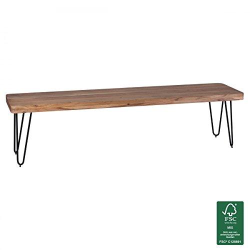 WOHNLING panca in legno massello di acacia 180 x 45 x 40 cm design ...