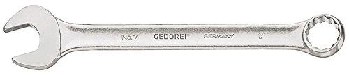 GEDORE 7 5/8AF Ring-Maulschlüssel, DIN 3113 Form A, leicht durch schlankes Maul und schmale Maulwände, ergonomisch und handlich, Ring 15° abgewinkelt, matt Verchromt, UD-Profil 5/8